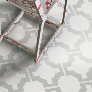 Parquet Sage flooring with chair