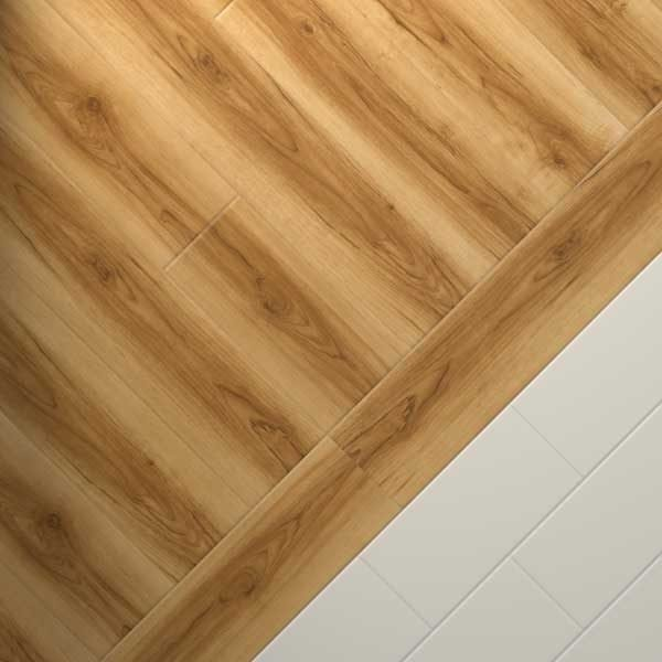 wood planks with cream tiles