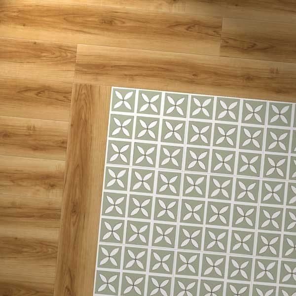vinyl wood combo with green design