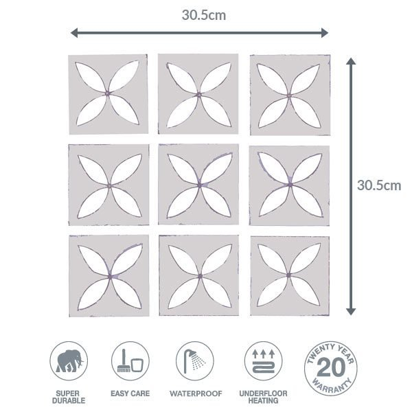 Pebbley Grey flooring dimensions