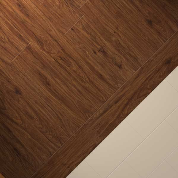 pecan vinyl wood with cream flooring tiles