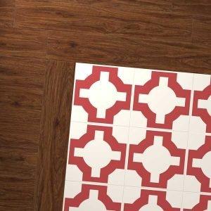 pecan vinyl with parquet red oxide
