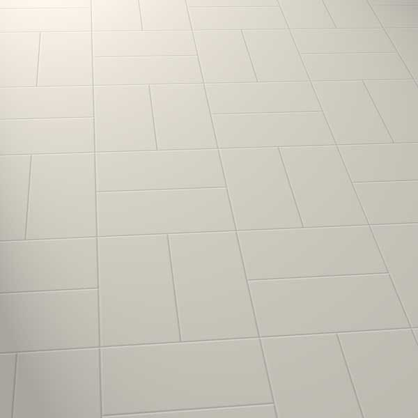 grey vinyl tiles in a basket pattern