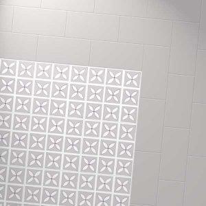 grey border with petal designer floor