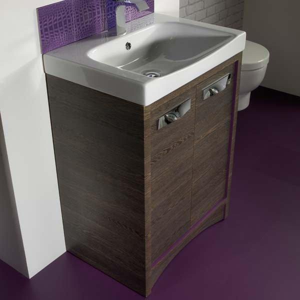 Purple floor next and luxury bathroom sink