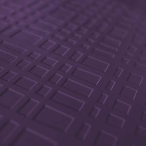 Purple grid rubber floor tile at an angle