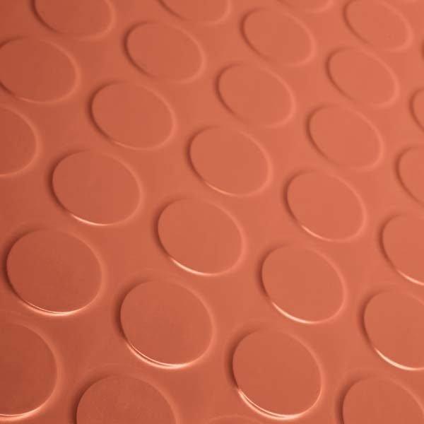 red rubber flooring tile