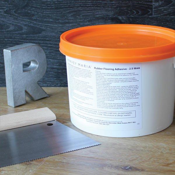 Rubber Flooring Adhesive 2 5 Litre Harvey Maria