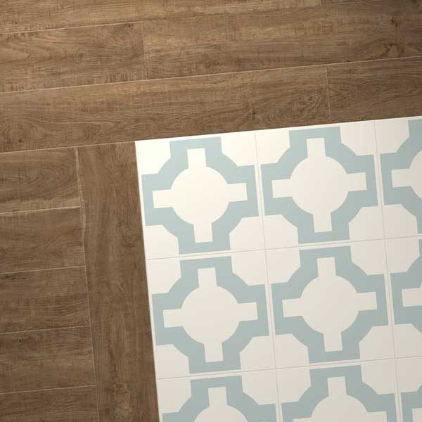 oak combo with parquet eggshell design