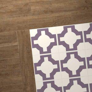 oak vinyl combo purple design