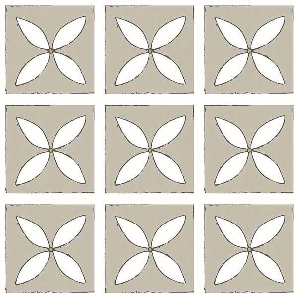 Single grey patterned tiles