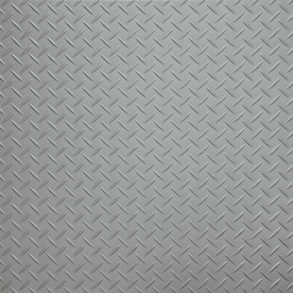 Silver tread plate vinyl flooring