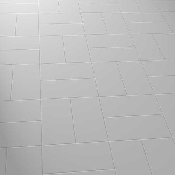 grey vinyl flooring in a basket pattern