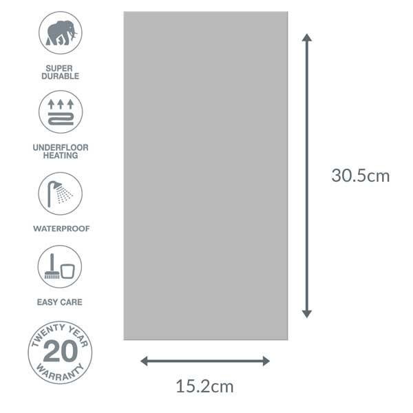 grey vinyl tile dimensions