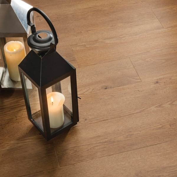 wooden floor plank with candle holder