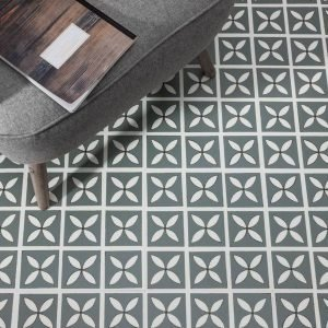 storm grey tiles in a living room
