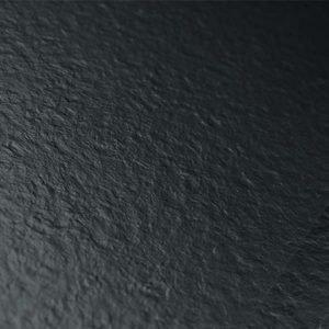 Shiny black vinyl flooring tile