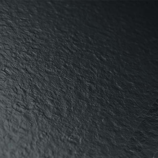 Shiny Black Vinyl Flooring Textured