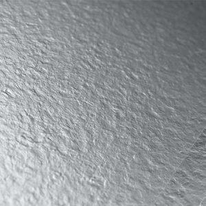 Shiny vinyl flooring in silver