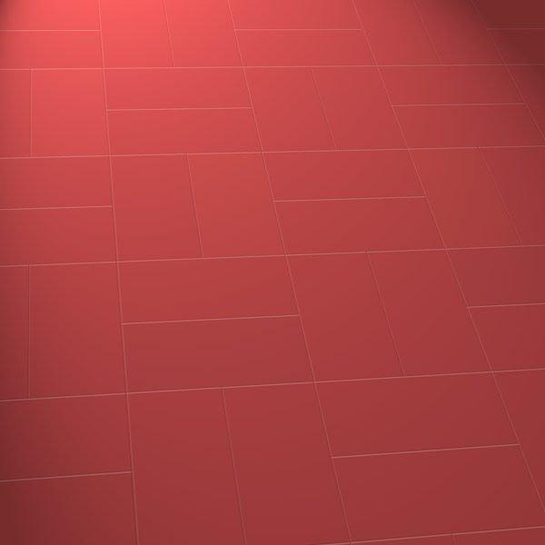 Red vinyl floor in a basket pattern