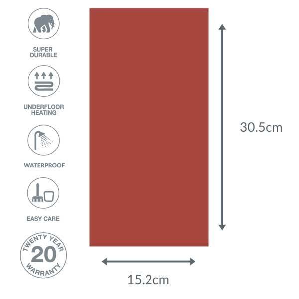 Red floor tile dimensions