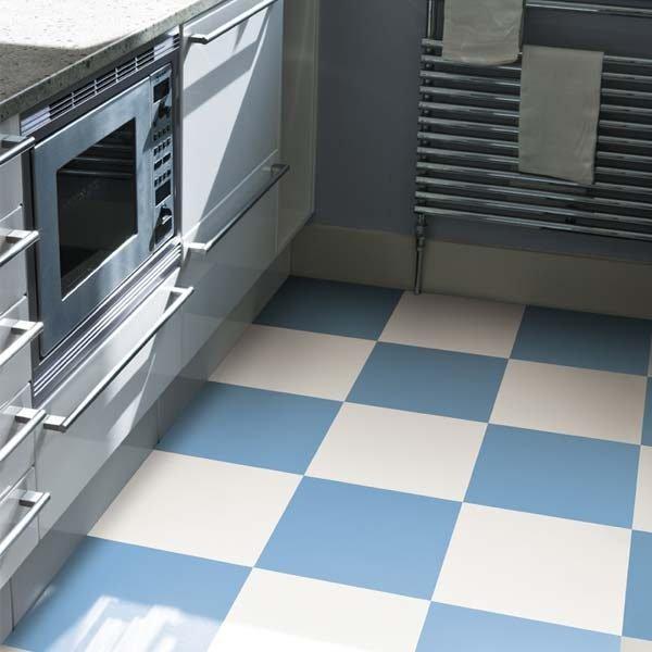 Frosty Blue Coloured Vinyl Flooring