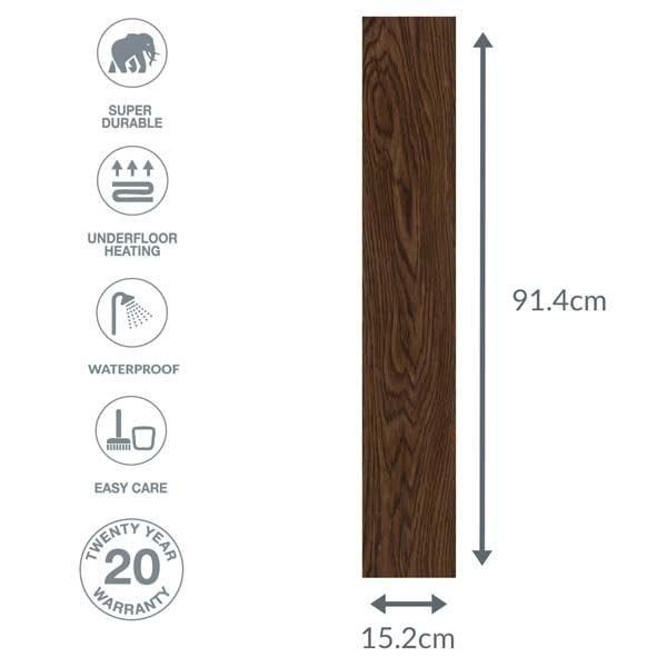 oak plank dimensions