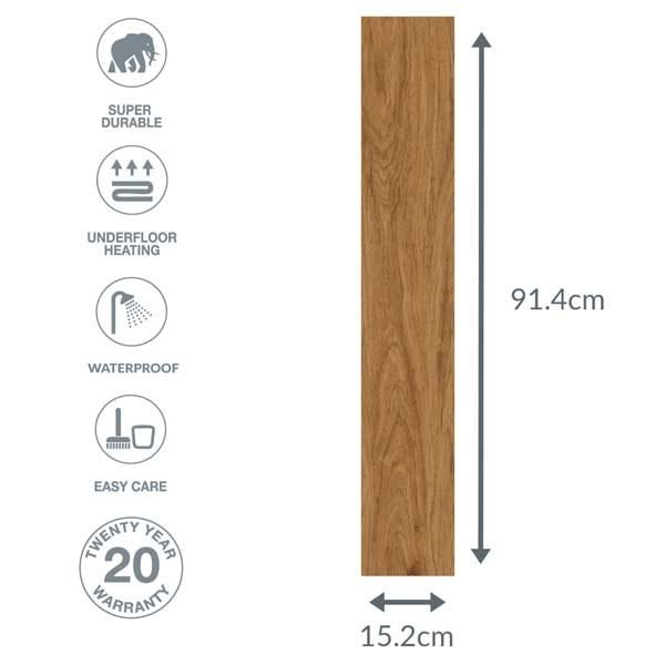 wood effect floor dimensions