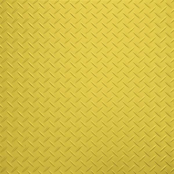 bright yellow tread plate flooring