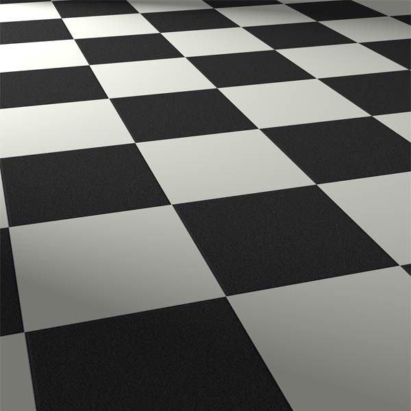 black and white square tiles