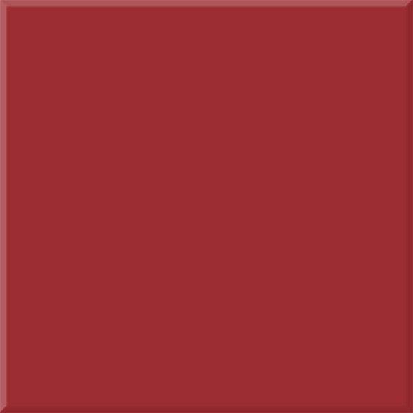 A single Venetian Red square tile