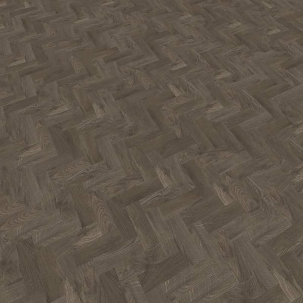 smoked oak herringbone flooring