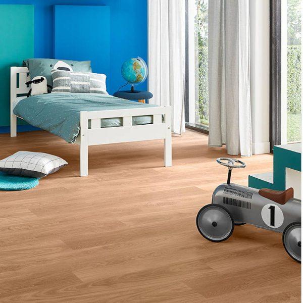 honey oak wood effect lvt kids bedroom floor
