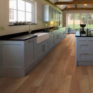 honey oak country kitchen lvt wood flooring