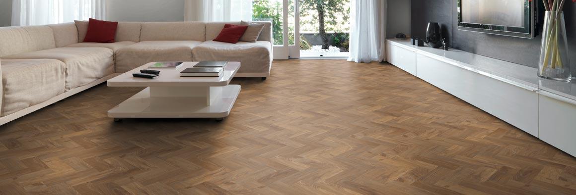 parquet wood flooring in contemporary livign room