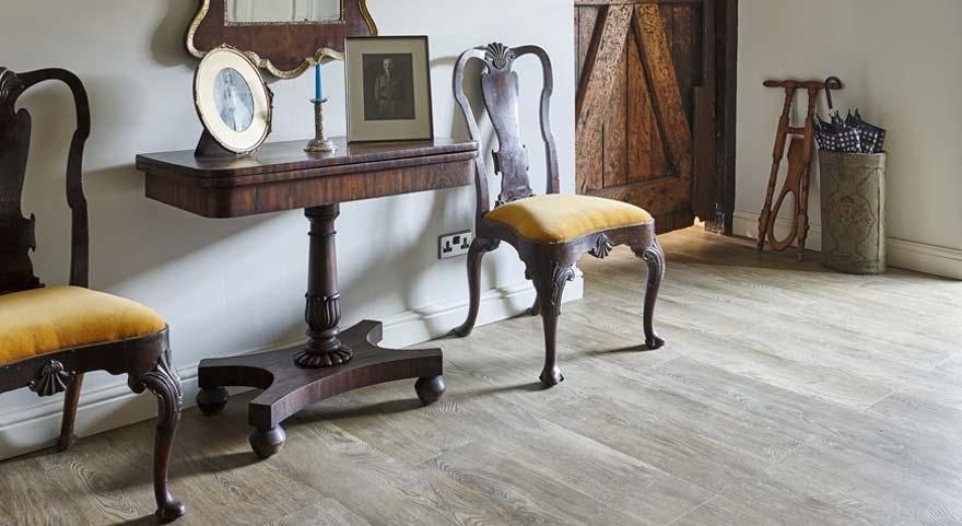 wood effect vinyl traditional hallway flooring