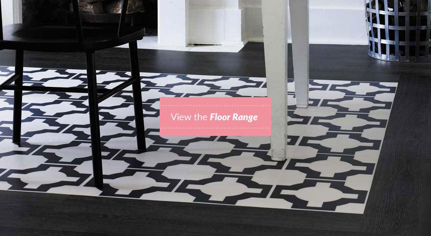 black and white designer flooring