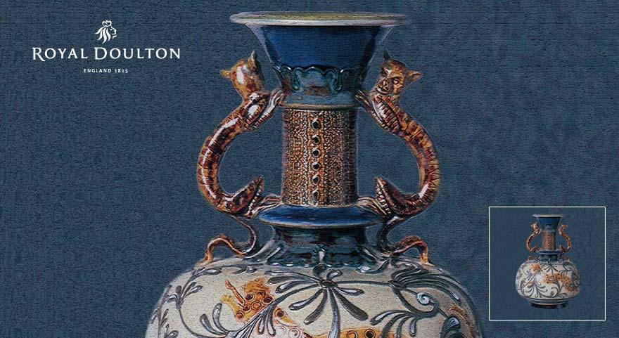 decorative vase from royal doulton