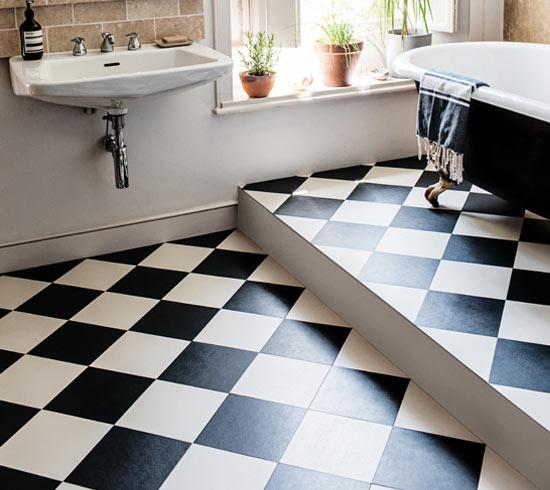 Why White Kitchen Interior Is Still Great For 2019: Modern LVT Vinyl Floor Tiles