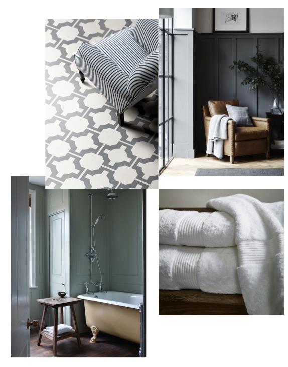 grey bathroom inspiration board