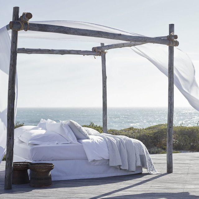 outdoor bed in sun