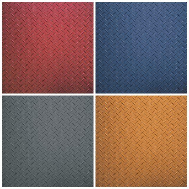 flooring sample collage tread plate
