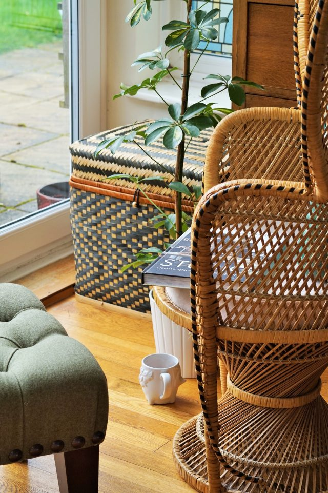 wooden chair in conservatory