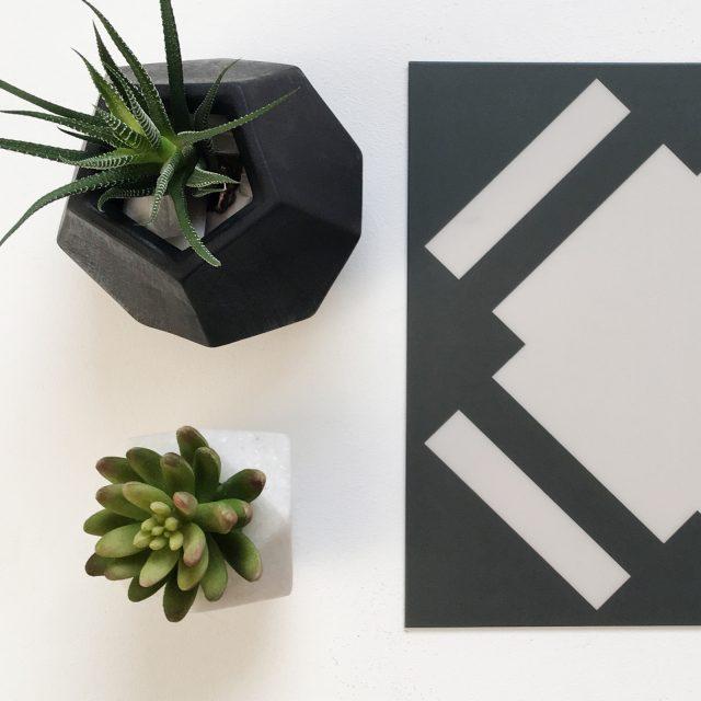 check slate vinyl tile with plants