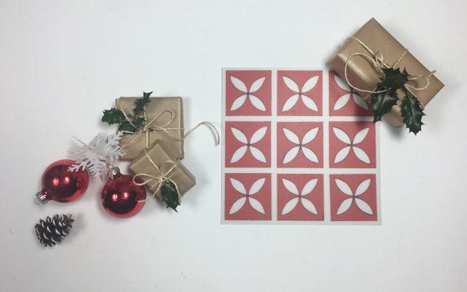 red lattice christmas moodboard
