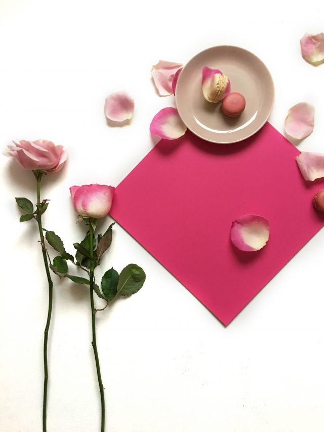 pink vinyl tile with roses