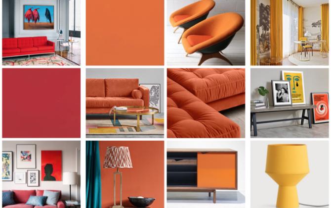 orange interiors mood board