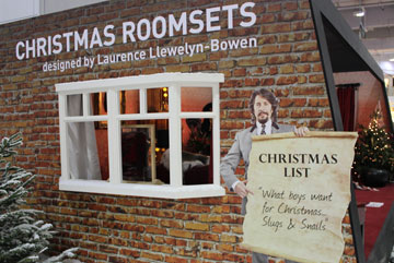 Christmas Roomsets - Ideal Home Show at Christmas