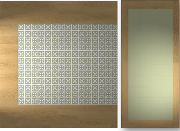 vinyl floor combinations