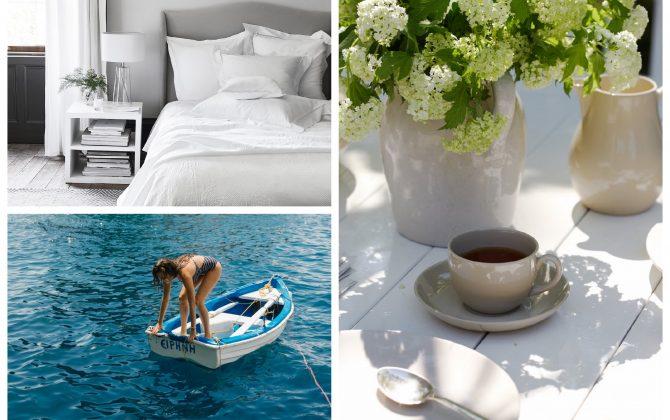 summer home decor inspiration moodboard